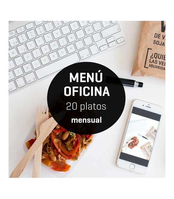 Menú mensual oficina 20 platos