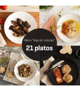 Menú bajo en calorías 21 platos