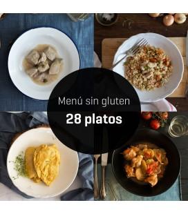 Menú sin gluten 28 platos