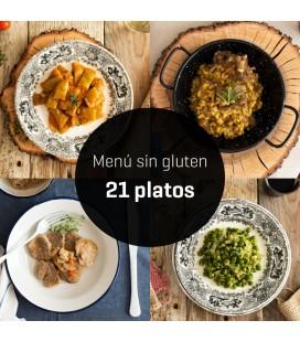 Menú sin gluten 21 platos