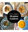 Menú vegano 28 platos + 2 postres