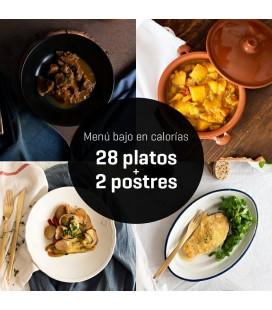 Menú bajo en calorías 28 platos + 2 postres