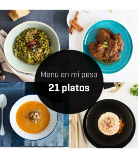 "Menú ""en mi peso"" 21 platos"
