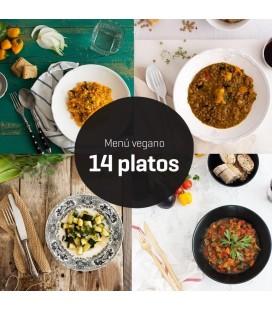 Menú vegano 14 platos