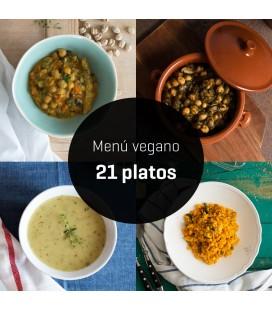 Menú vegano primavera 21 platos
