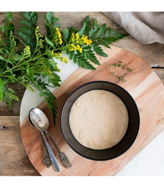 Dulce cremoso de galleta con toffee