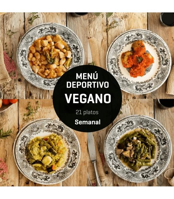 Menú deportivo Vegano 21 platos.