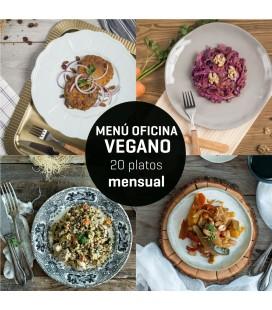 Menú mensual oficina vegano 20 platos