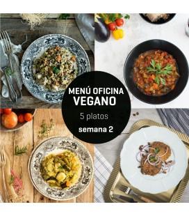 Menú semanal oficina vegano 5 platos Semana 2