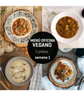 Menú semanal oficina vegano 5 platos Semana 1