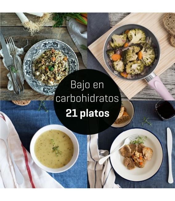 Menú bajo en carbohidratos 21 platos.