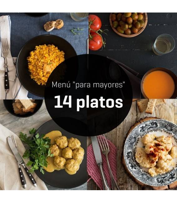 Menú para mayores 14 platos