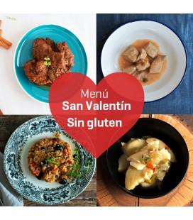 Menú de San Valentín sin gluten
