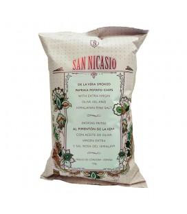 Patatas fritas en aceite de oliva virgen y sal rosa del Himalaya San Nicasio- 150 g.