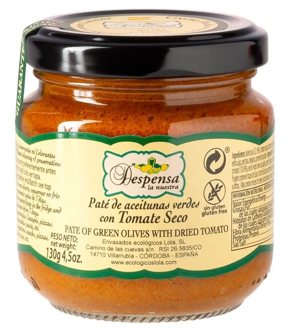 Paté Aceitunas Verdes Con Tomate Seco