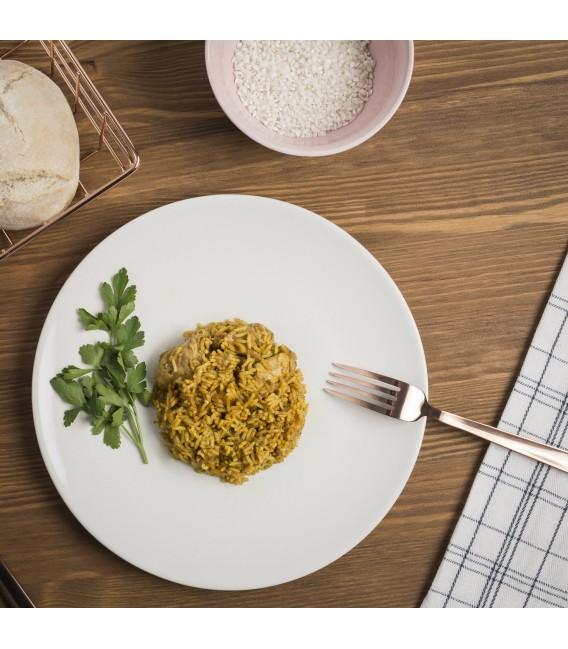 Pollo con arroz al curry