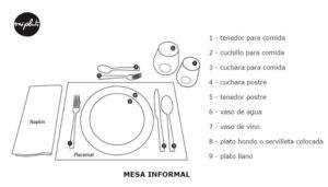 vestir la mesa informal