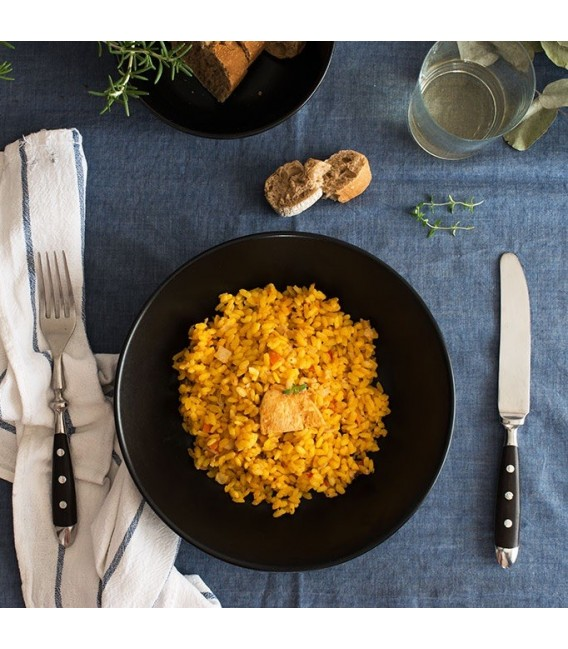 arroz con pollo y setas