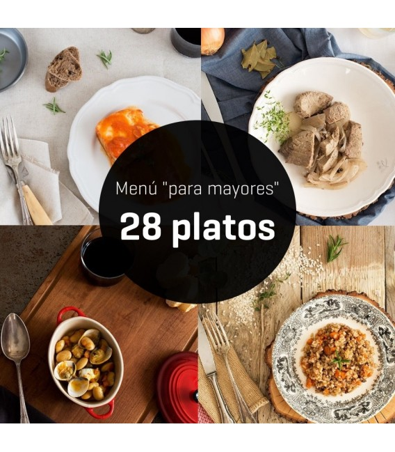 Menú para mayores de 28 platos